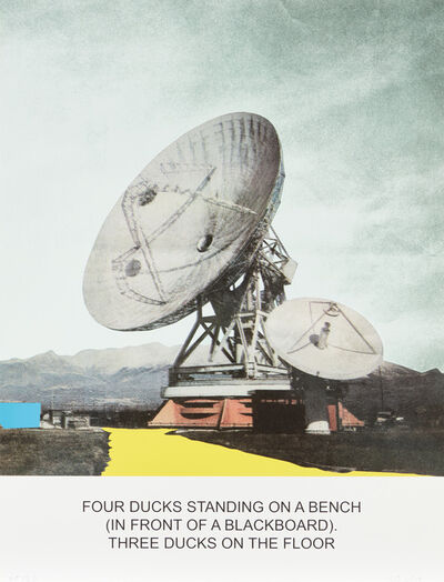 John Baldessari, 'The News: Four Ducks Standing on a Bench...', 2014