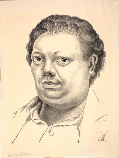 Diego Rivera, 'Self-Portrait', 1930