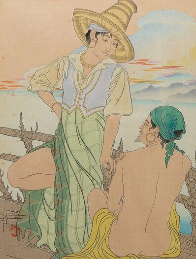 Paul Jacoulet, 'Sunset in Menado, Calebes', 1938