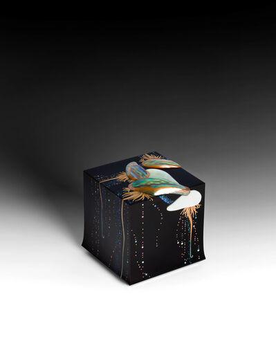 "Yoshio Okada, '""Hovering"" Box with Sprinkled Design of Jellyfish (T-4517)', 2020"