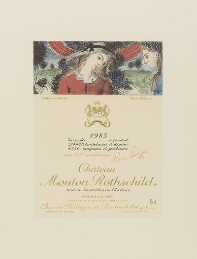 Paul Delvaux, 'Chateau Mouton Rothschild Pauillac wine label', 1985