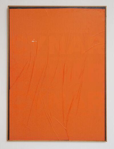 Mimmo Rotella, 'Orange Blank', 1980
