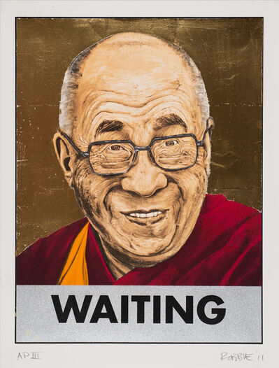 Robbie Wraith, 'Dalai Lama Waiting (Gold Leaf)', 2006-2011