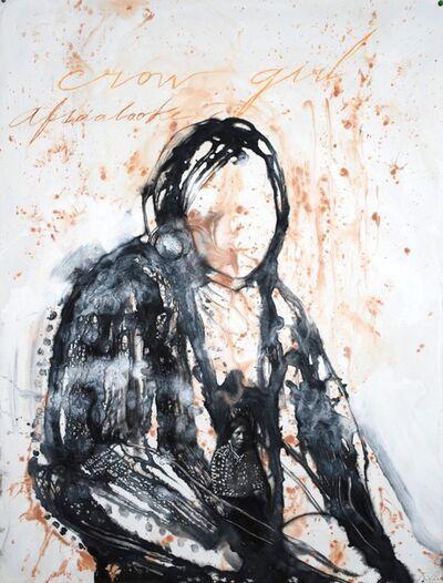 José Bedia, 'Crow Girl', 2016