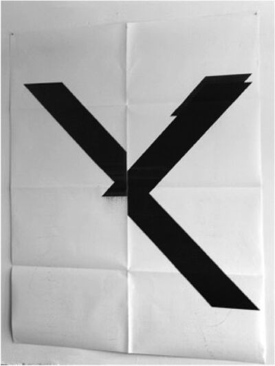Wade Guyton, 'X Poster (Untitled, 2007, Epson UltraChrome inkjet on linen, 84 x 69 inches, WG1999)', 2015