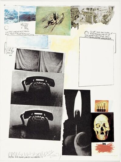 Robert Rauschenberg, 'Poster for peace', 1970