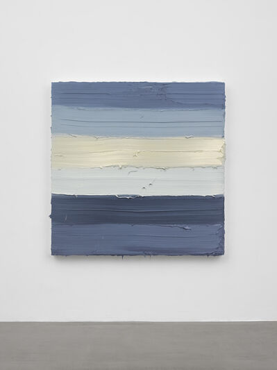 Jason Martin, 'Untitled (Zinc white / Royal blue light / French graphite grey)', 2019