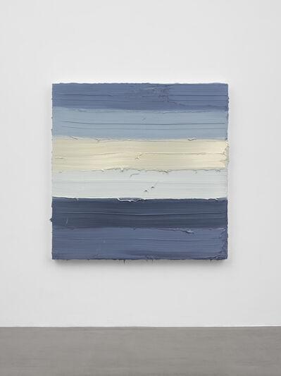 Jason Martin, 'Untitled (Zinc white / Royal blue light / French graphite grey)', 2019