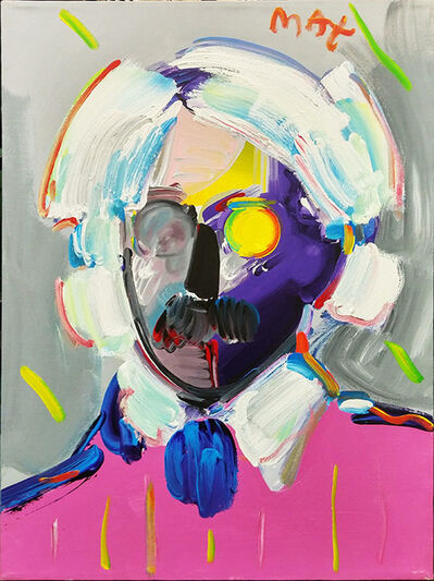 Peter Max, 'ANDY WITH MUSTACHE (PINK)', 1991