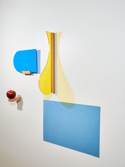 Páll Haukur Björnsson, 'a prayer with blue arch (yellow, blue, red)', 2017