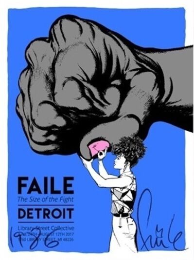 FAILE, 'The Size of the Fight', 2017