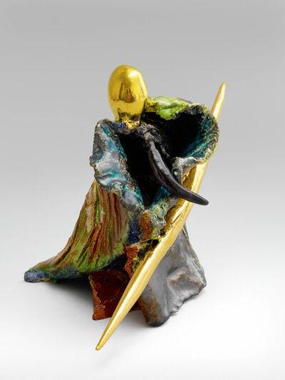 Milan Kunc, 'Figur mit goldenem Speer', 2008