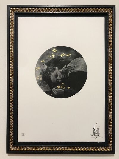 Nina Mae Fowler, '(Bull) Fever - Gold Leaf Embellishments - Framed', 2011