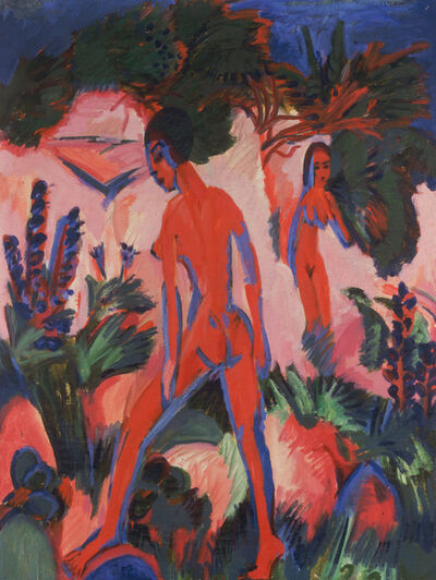 Ernst Ludwig Kirchner, 'RED NUDES', 1912