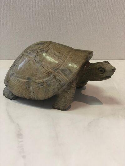 Aron Kapembeza, 'Leopard Rock Sculpture Tortoise', 2019