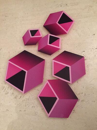 Daniel Sanseviero, 'Pink polyptych', 2016