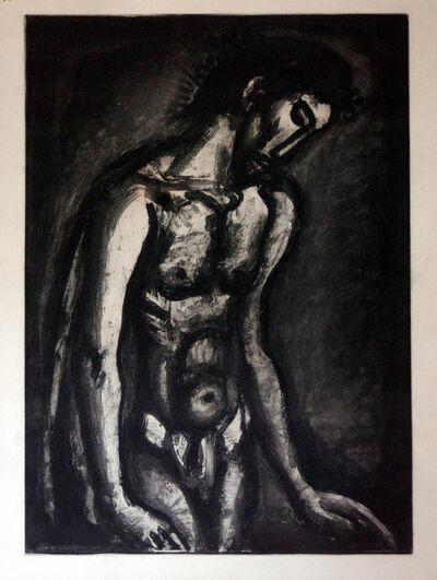 """Georges Rouault, 'Il a été maltraité et opprimé et il n'a pas ouvert la bouche - from """"Miserere""""', 1948"""
