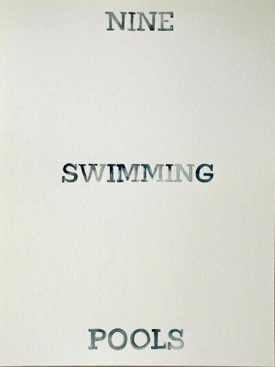 Amy Park, 'Ed Ruscha's Nine Swimming Pools and a Broken Glass', 2017