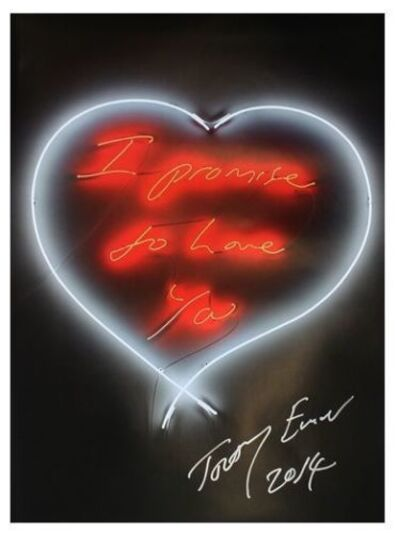 Tracey Emin, 'I Promise To Love You (signed)', 2014