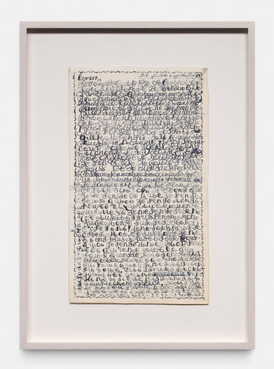 Thierry De Cordier, 'GARDEN WRITING 157', 1989