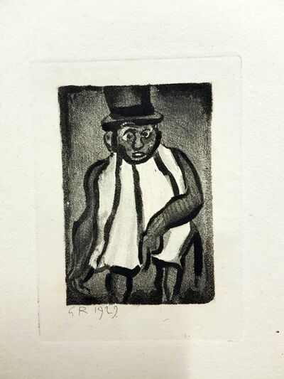 "Georges Rouault, 'Original Etching ""Ubu the King I"" by Georges Rouault', 1955"