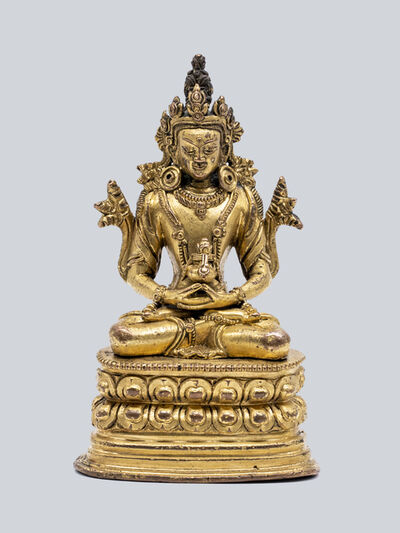 Bronze Sculpture, 'A Gilt Bronze Figure of Amitayus, Pala Revival Style, China, 17-18th Century, 16.5 cm.'