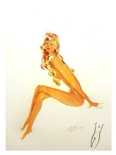 "Jean Gabriel Domergue, 'Lithograph ""Red Haired Elegance"" after Jean-Gabriel Domergue', 1956"