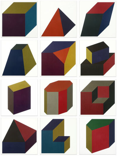 Sol LeWitt, 'Forms Derived from a Cube (Colors Superimposed)', 1991