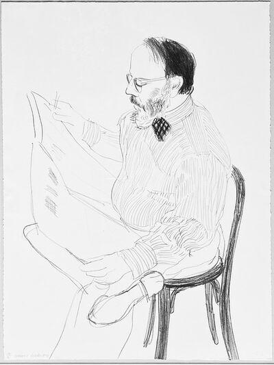 David Hockney, 'Henry reading the newspaper', 1976