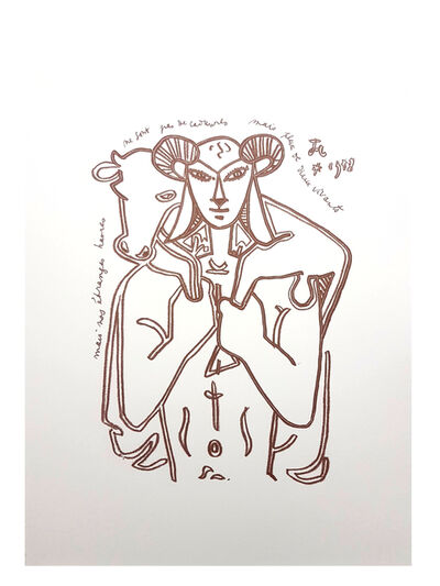 "Jean Cocteau, 'Original Lithograph ""The Savior"" by Jean Cocteau', 1958"