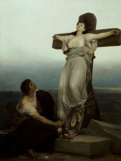 Gabriel von Max, 'The Christian Martyr', 1867