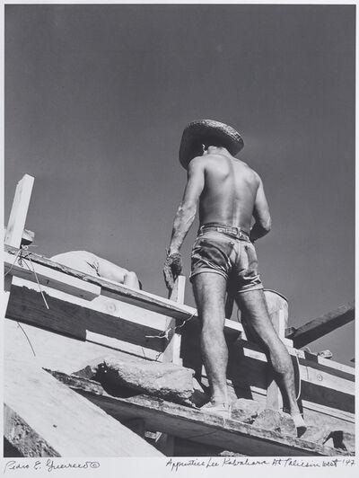 Pedro E. Guerrero, 'Apprentice Lee Kawahara, Taliesin West, Scottsdale, AZ', 1947