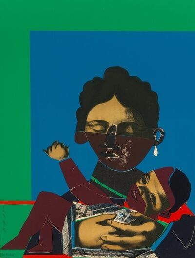 Romare Bearden, 'Mother and Child, from Conspiracy: The Artist as Witness', 1971