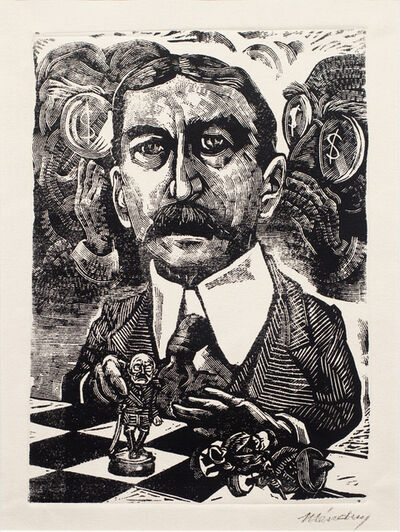 """Leopoldo Mendez, 'El Embajador Lane Wilson """"Arregla"""" el Conflicto', 1947"""