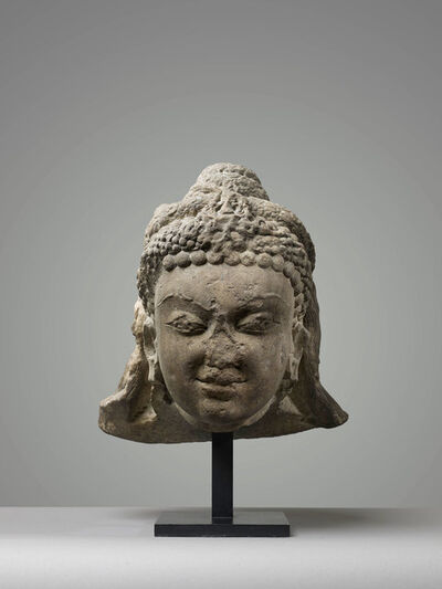 Unknown Indian, 'Head of a Divinity', 7th century