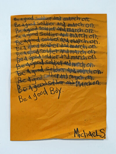 Michael Scoggins, 'Be a Good Boy', 2014