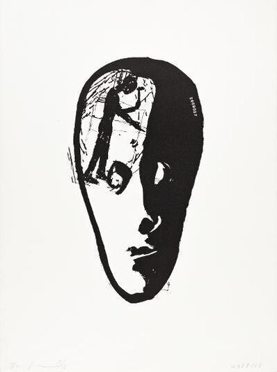 Jonathan Borofsky, 'Split Head with Hammering Man', 1979-80