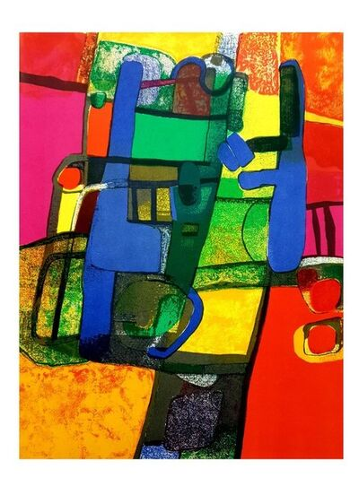 Maurice Estève, 'Maurice Estève - Colorful Abstraction - Original Lithograph', 1969