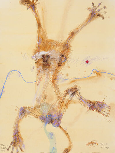 John Olsen (b.1928), 'Vervet and Mount Kenya', 2013