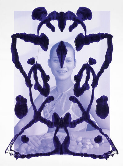 Asher Penn, 'Kate Moss Rorschach Portrait - Blue on Blue, 2013', 2013