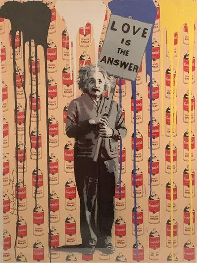 Mr. Brainwash, 'Einstein, Love is the Answer', 2013