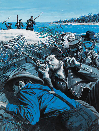 Gil Cohen, 'Confederates on the Shore. Story Illustration for Male Magazine', ca. 1950