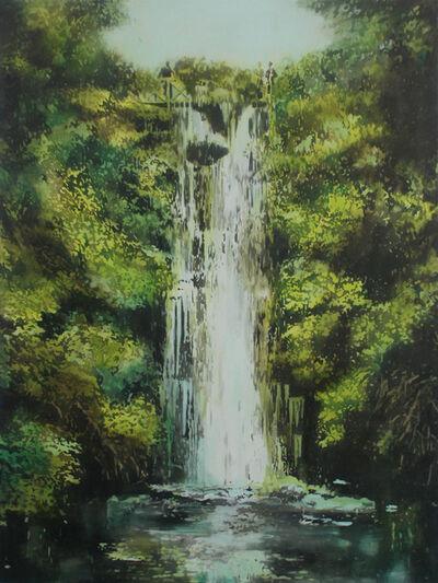 Annette Pugh, 'Waterfall Roundhay (Verdant)', 2019