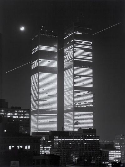 Monika Baumgartl, 'World Trade Center, mit Mond und Flugschneise #31, 1978', print date: 2019
