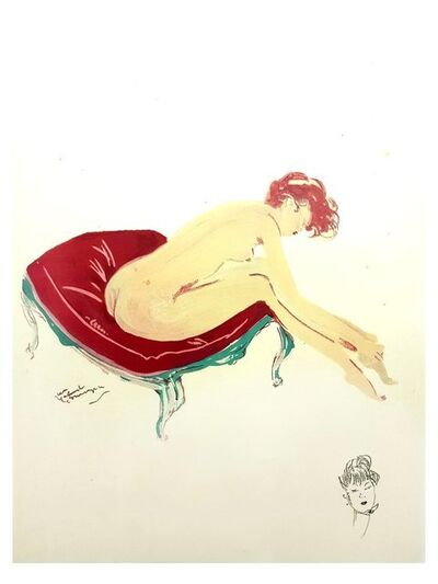 "Jean Gabriel Domergue, 'Lithograph ""Elegance I"" after Jean-Gabriel Domergue', 1956"