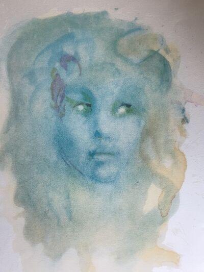Leonor Fini, 'Visage bleu', ca. 1980