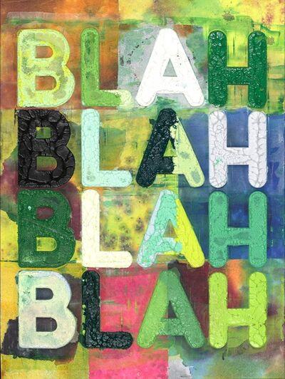 Mel Bochner, 'BLAH', 2019