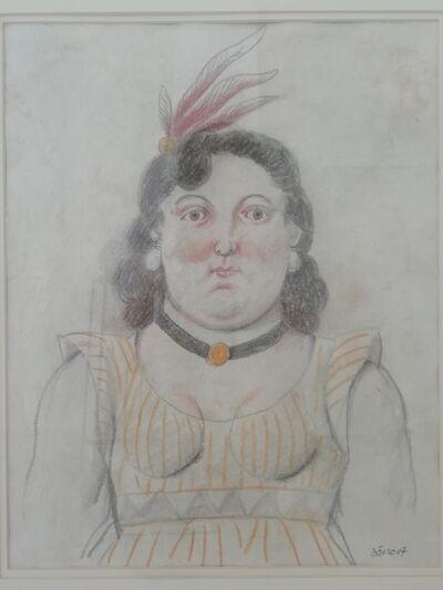 Fernando Botero, 'Donna con le piume', 2007
