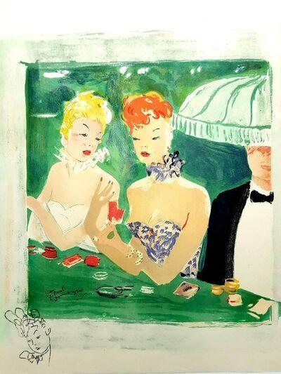 """Jean Gabriel Domergue, 'Lithograph """"Au Café Rue Caumartin"""" after Jean-Gabriel Domergue', 1956"""