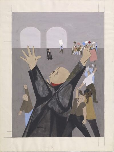 Jacob Lawrence, 'Protest Rally', ca. 1965